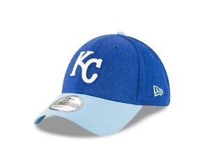 san francisco 52005 eb1e4 Image is loading Kansas-City-Royals-New-Era-Heathered-Royal-Blue-