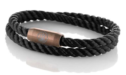 """Seemannsgarn /_ Maritimes Segeltau Armband /""""Amrum/"""" schwarz 4mm"""