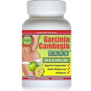 PURE Garcinia Cambogia Extract 3000 maximum 95% HCA Weight Loss Diet FAT BURNER