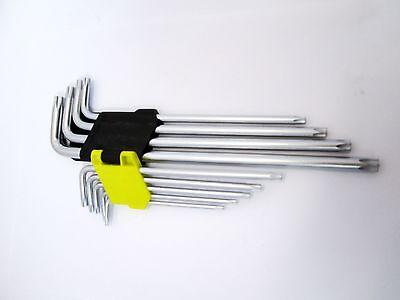 T50 Allen Keys  New Bergen 1514 9pc Extra Long Torx Key Set Tamperproof T10