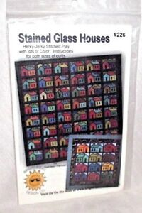 Quilt-Stained-Glass-Houses-Pattern-Kathleen-Parman-226-Herky-Jerky-Bright-Ideas