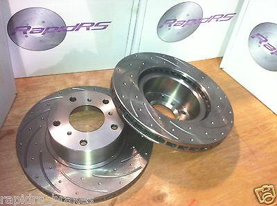 DIMPLED SLOTTED REAR DISC BRAKE ROTORS for Mazda MX5 NA 1.6L 10//1989-11//1993