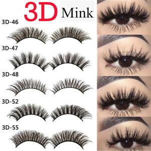 4dc9c19dce1 HOT Soft Design 3D 100% Real Mink False Eyelashes Cross Messy Eye ...