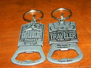 Samuel Adams Curious Traveler Pewter Key Chain Bottle Opener Mustache Theme
