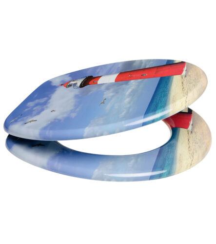 Tapa del inodoro colocado arriba WC gafas tapa escaños con automático faro