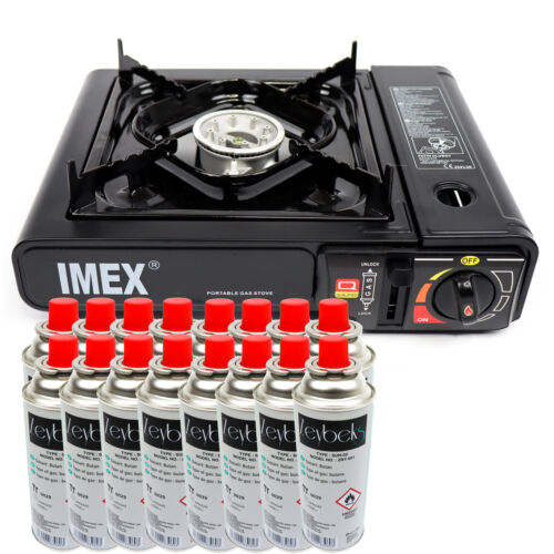 Imex Camping Gas Cooker Camping Cooker Cartridges Kettle in Case for MSF1A