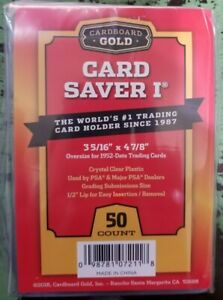 50-Ct-Card-Saver-I-CS-1-Cardboard-Gold-PSA-Graded-Semi-Rigid-Holders-Brand-New
