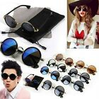 Fashion Vintage Round Mirror Lens UV400 Sunglasses Women Men Unisex Glasses