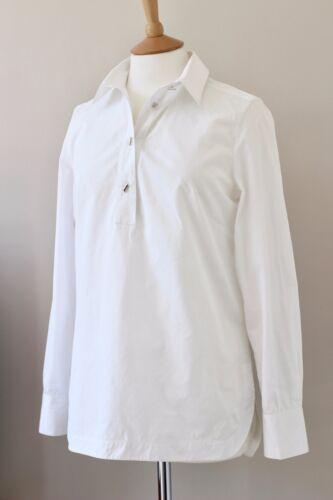 It40 blanc Ferragamo Blouse Us6 10 magnifique en Uk8 Top coton Salvatore w0qId5q