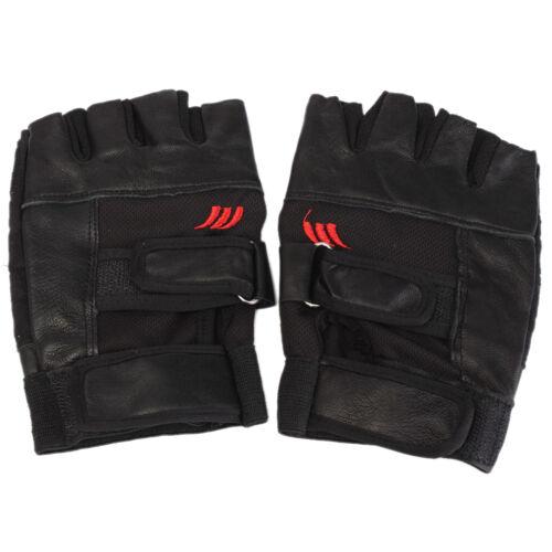 Hommes musculation gymnastique exercice sport Fitness Sports gants en cuir ZH