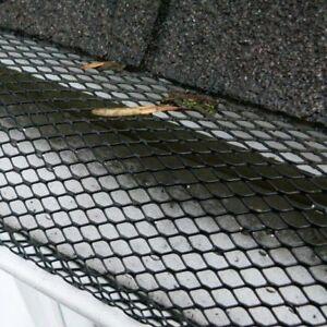 5m Black Gutter Mesh Protector Leaf Moss Guard Debris Protection Easy Fit Black