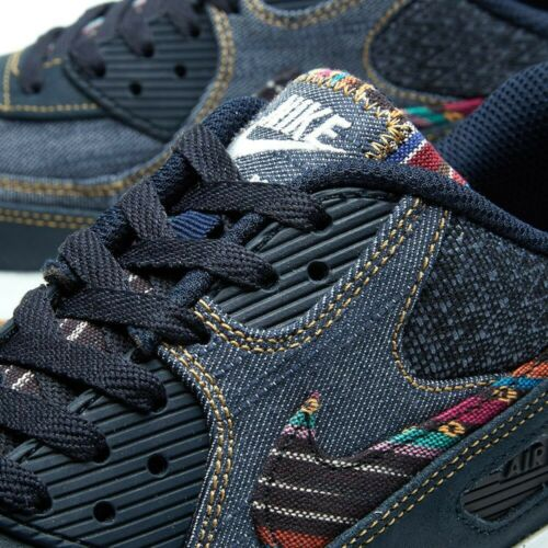 Nuevo Y En Caja Nuevo Hombre Nike Air Max 90 Premium Afro Punk Levi Denim Talla 9 UK