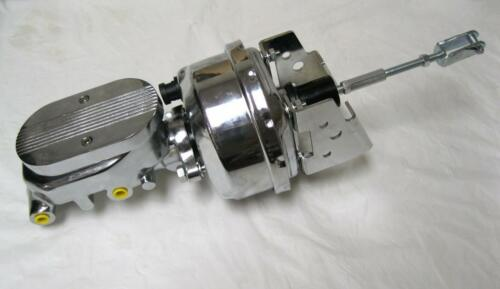 """A-Body 7/"""" Power Booster Mounting Bracket Kit CHROME Milled Master Cylinder"""