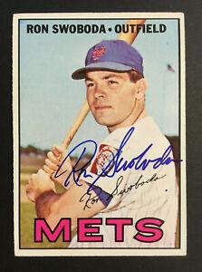 Ron Swoboda Mets signed 1967 Topps baseball card #264 Auto Autograph