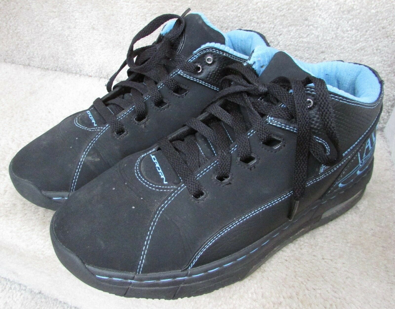 Jordan Ol'School Low Mens 317765 Black bluee Basketball shoes Size 9.5