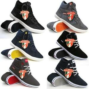 Lambretta-Mens-Hi-Tops-Trainers-New-Ankle-Flat-Pumps-Quilted-Fashion-Boots-Shoes
