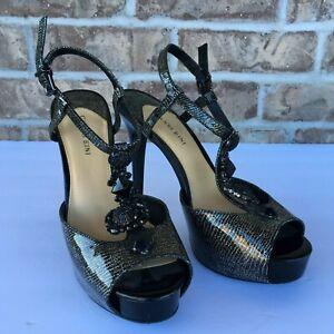 gianni bini women's open toe stiletto high heels black