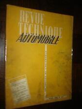 REVUE TECHNIQUE AUTOMOBILE N° 107 - 1955 - Dyna Panhard - 4 cv Renault...
