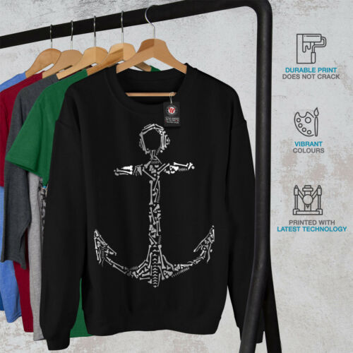 Sweatshirt Ancient Fashion Noir Nouveau Anchor XZTPuwOki