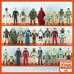"Vintage 1983 Kenner Star Wars 3.75/"" WEEQUAY figurine utilisé Hong Kong"