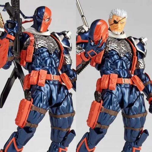 Amazing Yamaguchi Revoltech No.011 Deathstroke PVC Action Figure New In Box