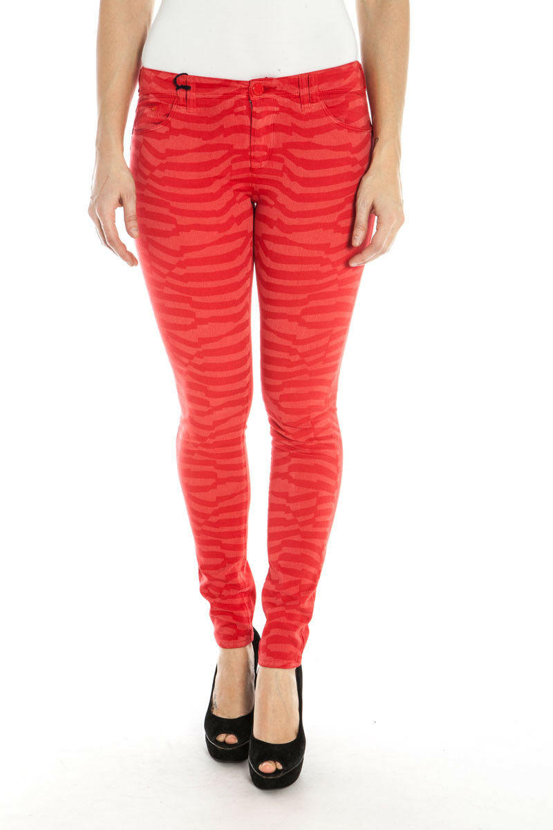 Pantaloni Armani Jeans AJ Jeans Trouser MADE IN ITALY Donna Rosso A5J28JU 4V