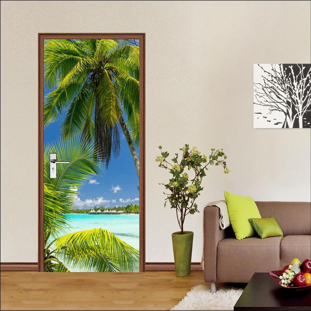 3D Palmen 73 Tür Wandmalerei Wandaufkleber Aufkleber Aufkleber Aufkleber AJ WALLPAPER DE Kyra | Schön und charmant  | Schöne Farbe  |  f6e02c