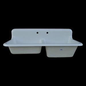 Details about Reproduction Double Bowl Farmhouse Kitchen Sink #DBR5124