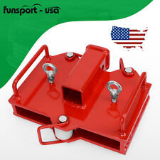 2 Trailer Hitch Receiver For Dual Pallet Forks Forklift Towing Adapter Attach