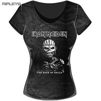 Official Ladies T Shirt IRON MAIDEN Vintage  Book Souls Acid All Sizes
