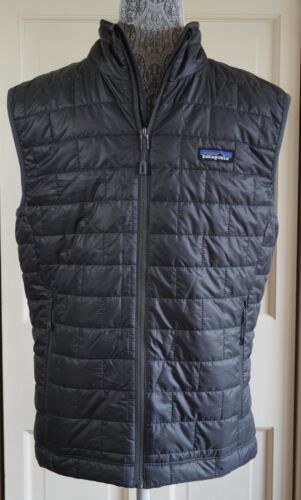 Men/'s PATAGONIA NANO PUFF Vest FORGE GREY Size S Model 84242
