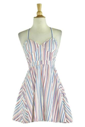 Guess Women Dresses Fit & Flare XS White Cotton