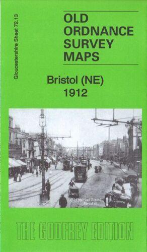 OLD ORDNANCE SURVEY MAP BRISTOL NE 1912 CASTLE STREET OLD BREAD STREET
