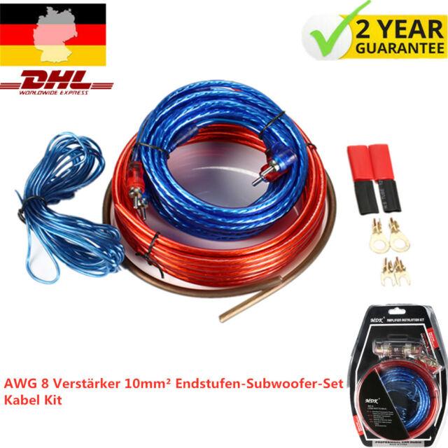 Crunch CRK10 10mm² Kabel Set CarHifi Auto Kabel Satz für Endstufe Verstärker Amp
