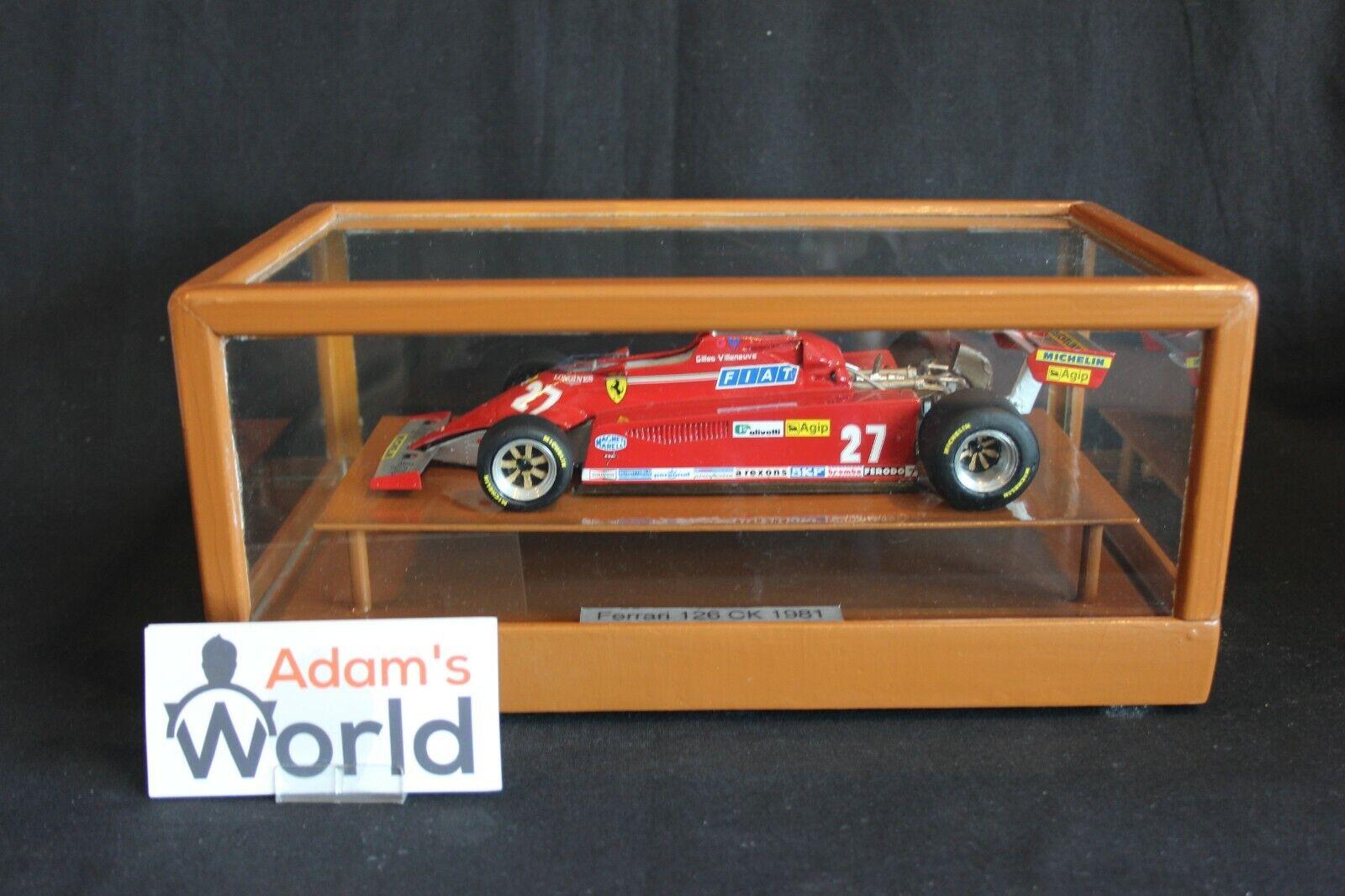 Matilde Model Ferrari 126 CK 1981 1 18 Gilles Villeneuve in show case (PJBB)