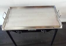 "HEAVY 32"" Wide Stainless Steel Flat Top Double Griddle Grill NEW"