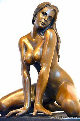 erotischer Bronze Akt signiert Bronzefigur Bronzeskulptur Bronzefiguren Statue