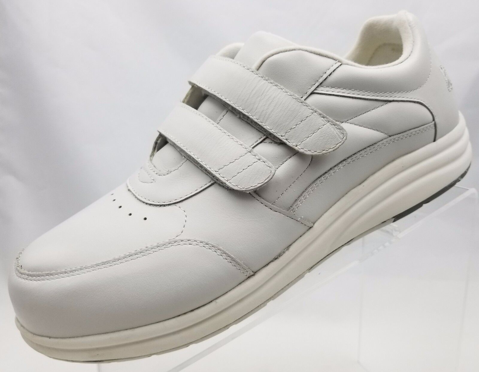 P W Minor Performance Walker Orthotic Diabetic Womens White Leather shoes Sz 10