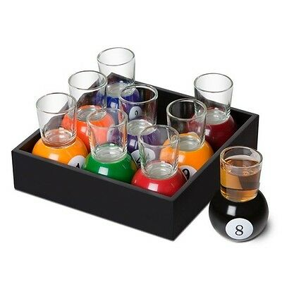 Pool Shot Glasses Set
