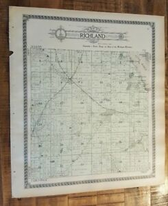 Details about Antique MAP-RICHLAND TOWNSHIP - KALAMAZOO, Michigan/Ogle &  Co 1910