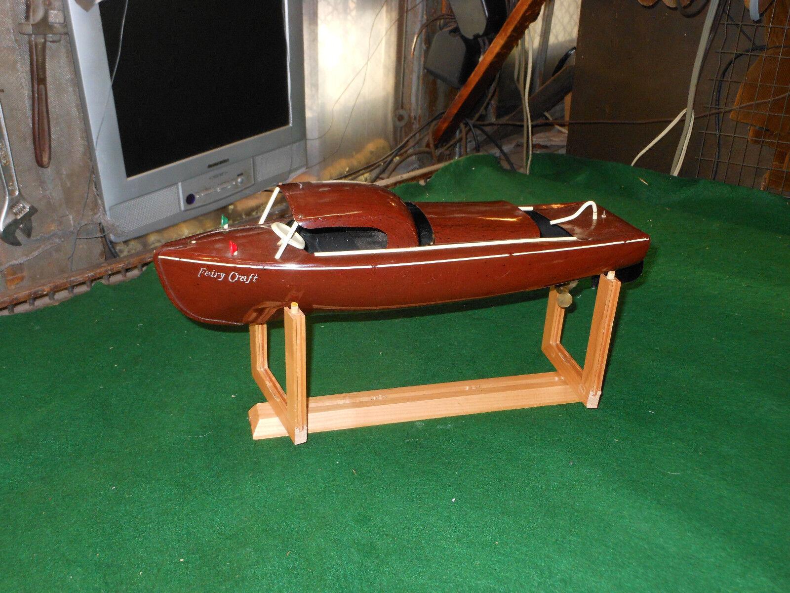 """Fairy Craft modelllllerler Speed Craft Speed båt leksak arbetar Great Auburn 1940 celluloid """
