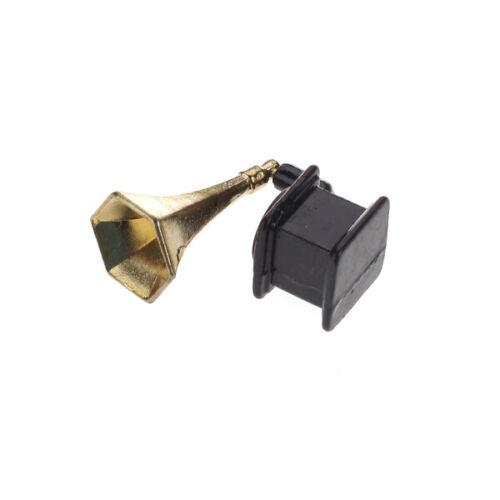 6pcs Goldlegierungs Tee Deckel Topf Schalen Behälter stellte 1:12 Puppenhaus