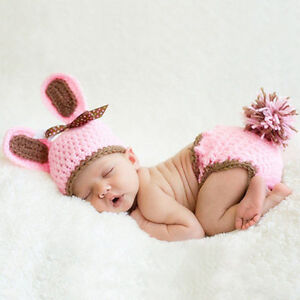 62a236772 Newborn Baby Girl Boy Crochet Knit Costume Photo Photography Prop ...