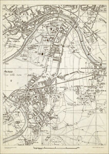 Richmond London Map.Richmond Brentford Kew Old Vintage Map 1888 Gtr London 24 Ebay