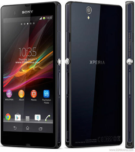 "1 of 1 - Factory unlocked Original Sony Xperia Z C6603 - 16GB Black Smartphone 5"" GSM"