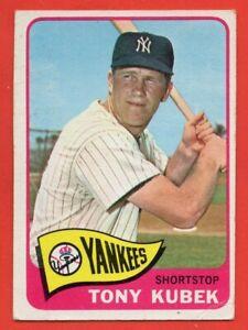1965 Topps #65 Tony Kubek VG-VGEX+ WRINKLE New York Yankees FREE SHIPPING