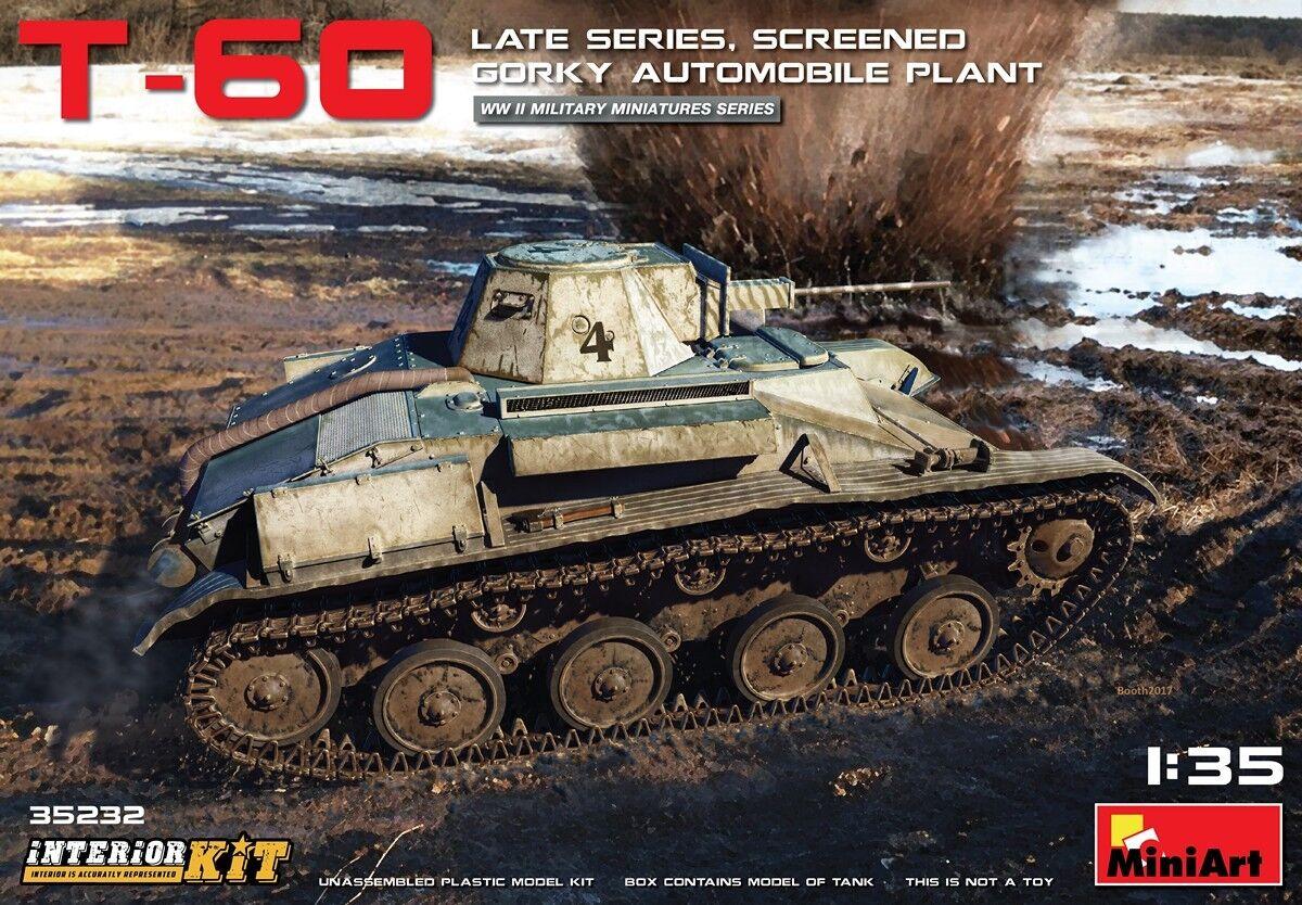 MINIART  35232 T-60 Late Late Late Series Sceened Gorky Autom. Plant Interior Kit in 1 35  | Verschiedene Waren  c75f1a