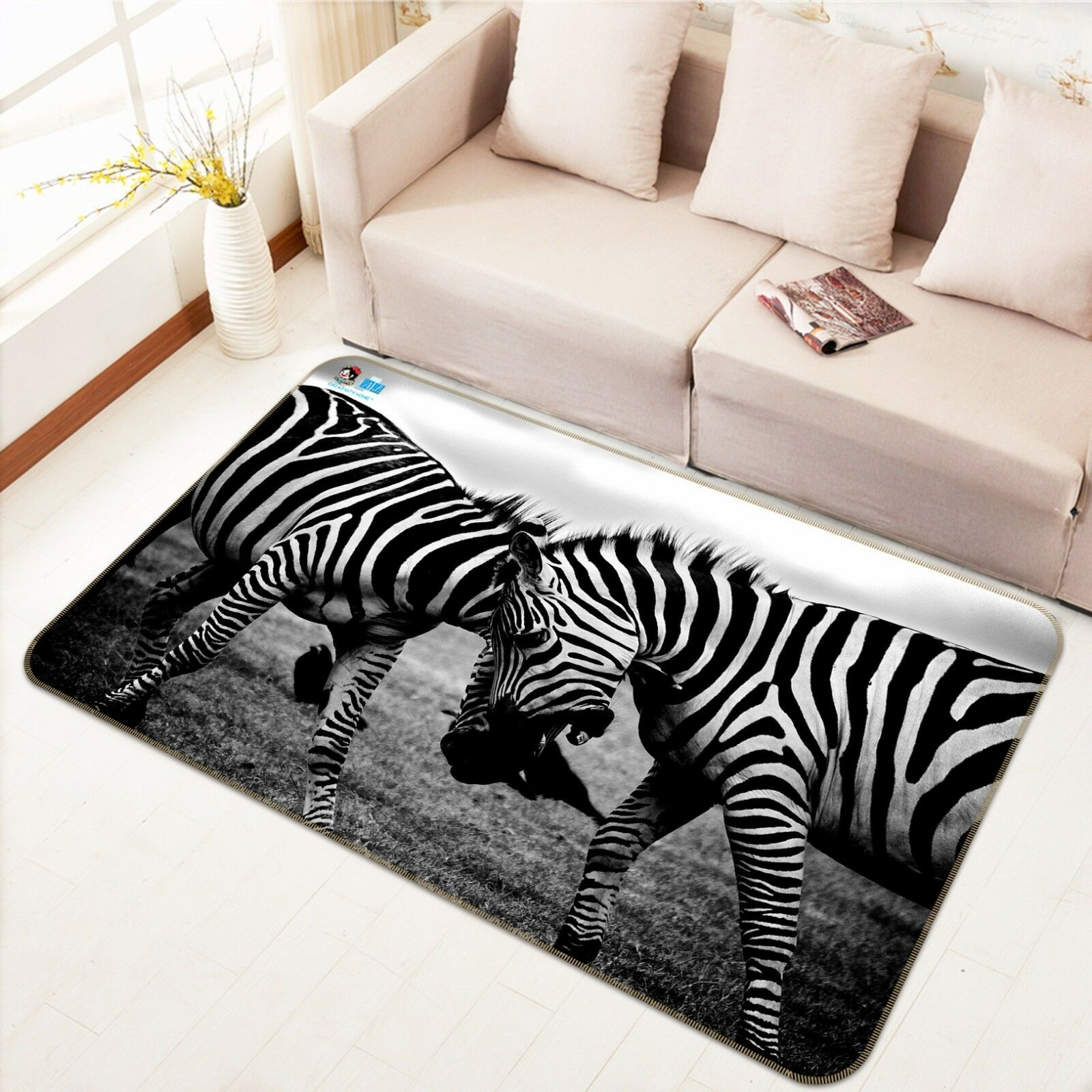 3D Mode Zebra Zebra Zebra 49 Rutschfest Teppich Matte Raum Matte Qualität Elegant Teppich DE 1a0dcf