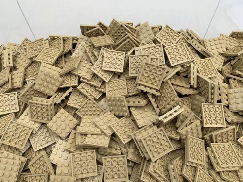 LEGO 3031-4x4 Marrone chiaro Tan Beige piastre di base//AMICI City 10 PEZZI