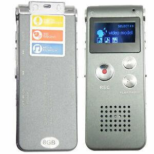 Mini-Digital-Portable-Voice-Recorder-Dictaphone-Telephone-8GB-MP3-Player-USB-US